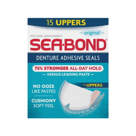 SEA-BOND Denture Adhesive Seals Uppers Original, 15 ea [011509001627]