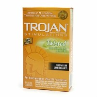 TROJAN Lubricated Latex Condoms, Twisted Pleasure 12 ea [022600976523]