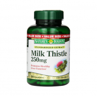 Nature's Bounty Milk Thistle 250 mg Capsules 200 ea [074312045493]