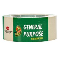 Duck General Purpose Masking Tape, 1.88-Inch by 60-Yard, Single Roll, Beige 1 ea [075353050040]