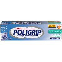 SUPER POLIGRIP Denture Adhesive Cream Ultra Fresh 1.40 oz [310158054603]