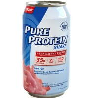 Pure Protein Shake, Strawberry Cream 11 oz [749826221014]