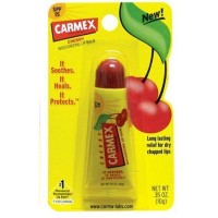 Carmex Lip Balm SPF 15, Cherry Flavored 0.35 oz [083078024307]