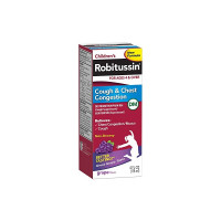 Robitussin Cough & Chest Congestion, Grape Flavor, 4 oz [300318715130]