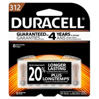 Duracell 1.4 Volt Zinc Air Hearing Aid Batteries [312] 8 ea [041333002798]
