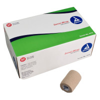 "Cohesive Bandage SensiWrap 3"" X 5 Yard Standard Compression Selfadherent Closure Tan NonSterile, 24 [616784317328]"