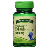 Nature's Truth Super Strength Acetyl L-Carnitine HCL Capsules 1000 mg 30 ea [840093100801]