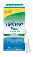REFRESH PLUS Lubricant Eye Drops Single-Use Containers 70 Each [300230403702]