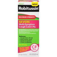 Robitussin Severe Multi-Symptom Syrup Cough Cold+Flu Relief  8 oz [300318751183]