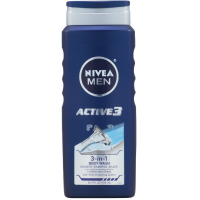 NIVEA FOR MEN Active 3 Body Wash 16.90 oz [072140120344]