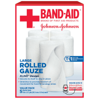 BAND-AID First Aid Rolled Gauze Sterile Roll, Large 5 ea [381371161416]