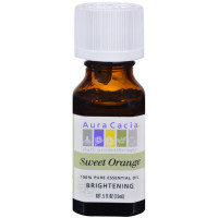 Aura Cacia 100% Pure Essential Oil, Brightening Sweet Orange 0.50 oz [051381911294]