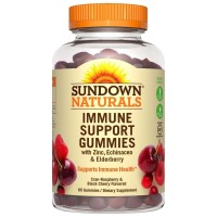 Sundown Naturals Immune Support Gummies, Cran-Raspberry & Black Cherry Flavored 60 ea [030768588045]