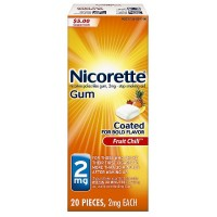 Nicorette Nicotine Gum 2 mg, Fruit Chill 20 ea [307667849141]