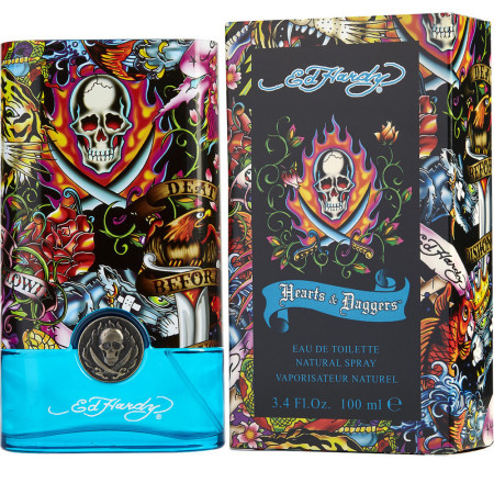 Ed Hardy Hearts & Daggers By Christian Audigier Eau De Toilette Spray for Men 3.40 oz [094922190123]