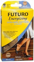 FUTURO Energizing Ultra Sheer Pantyhose For Women French Cut Lace Panty Mild Large Nude 1 Pair [382250065856]