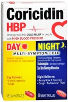 Coricidin HBP Day/Night Multi-Symptom Cold Softgels/Tablets 24 Tablets [041100807298]