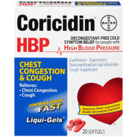 Coricidin HBP Chest Congestion & Cough Liqui-Gels 20 ea [041100807434]