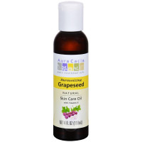 Aura Cacia Natural Skin Care Oil with Vitamin E, Harmonizing  Grapeseed 4 oz [051381911713]
