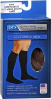 QCS Men's Medical Legwear Firm Brown Large 1 Pair [763189587877]