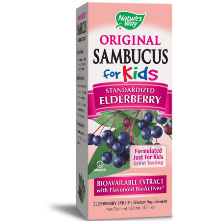 Nature's Way Original Sambucus For Kids Bio-Certified Syrup, Elderberry 4 oz [033674069738]