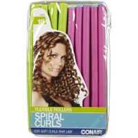 Conair Styling Essentials Spiral Rollers Set, Assorted Colors 18 ea [074108625045]