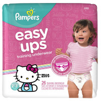 Pampers Easy Ups Training Pants Pull On Disposable Diapers for Girls Size 4 (2T-3T) 26 ea [037000959915]
