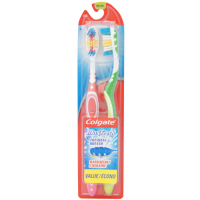 Colgate MaxFresh Toothbrush, Medium, Full Head 2 ea [035000895219]