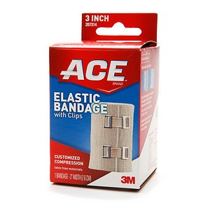 ACE Elastic Bandage (hook closure) 3 Inches 1 Each [051131208131]