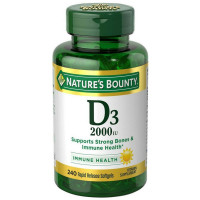 Nature's Bounty D3-2000 IU, 240 Softgels [074312199394]
