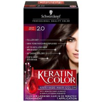 Schwarzkopf Keratin Color Anti-Age Hair Color, Ebony Brown [2.0] 1 ea [017000127392]