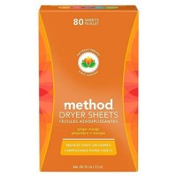 Method Dryer Sheets, Ginger Mango 80 ea [817939016503]