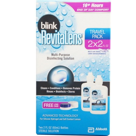 Blink RevitaLens Multi-Purpose Disinfecting Solution Travel Pack, Two 2 oz  [827444000997]