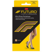 FUTURO Energizing Ultra Sheer Pantyhose For Women French Cut Mild Small Nude, 1 Pair [051131201323]