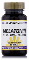Windmill Melatonin 10 mg Timed Release Tablets 60 Tablets [035046003920]