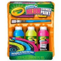 Crayola Washable Neon Sidewalk Paint Kit 1 ea [071662035105]