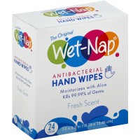 Wet-Nap Antibacterial Hand Wipes, Fresh 24 ea [074887677303]