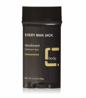 Every Man Jack Deodorant Stick, Sandalwood 3 oz [878639000230]
