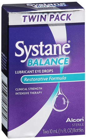 Systane Balance Restorative Formula Lubricant Eye Drops Twin Pack 20 mL [300651433074]