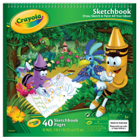 "Crayola Sketchbook 9""X9"" 40 ea [071662993443]"