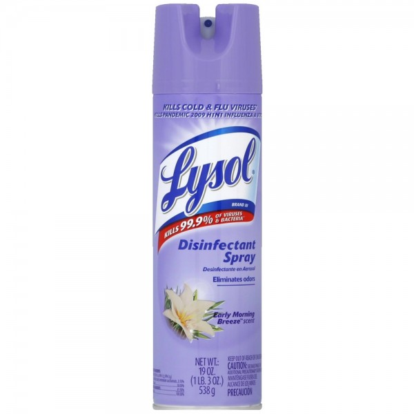 Lysol Disinfectant Spray Early Morning Breeze 19 Oz