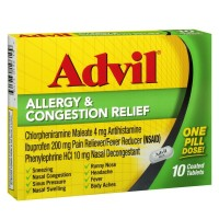 Advil Allergy & Congestion Relief Tablets 10 ea [305730196109]