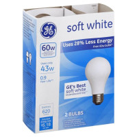 GE Soft White 43-Watt, Light Bulb 2 ea [043168630030]