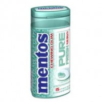 Mentos  Pure Fresh Gum Bottle Wintergreen +10 pack (15 ct per pack) 1 ea [073390013943]