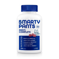 SmartyPants Men's Complete Multivitamin Gummies, Lemon, Strawberry & Orange, 120 ea [851356004750]