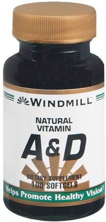 Windmill Vitamin A and D Softgels 100 Soft Gels [035046011109]