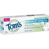 Tom's of Maine Rapid Relief Sensitive Natural Toothpaste, Fresh Mint 4 oz [077326835623]