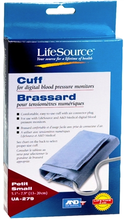 LifeSource Digital Blood Pressure Cuff Small UA-279 1 Each [093764011542]