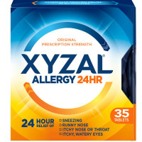 Xyzal 24 Hour Allergy Relief Tablets 35 ea [041167351017]