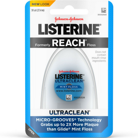 Listerine Ultraclean Mint Floss 30 Yards [012547440133]